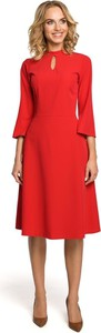 Czerwona sukienka MOE w stylu casual
