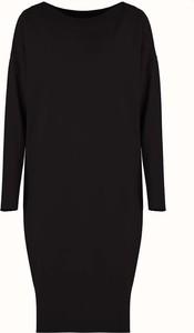 Czarna sukienka By Insomnia oversize z okrągłym dekoltem mini