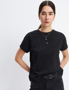 Czarny t-shirt Mohito