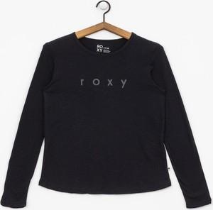 Czarna bluzka Roxy z długim rękawem w młodzieżowym stylu
