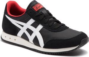 Czarne buty sportowe ASICS z zamszu