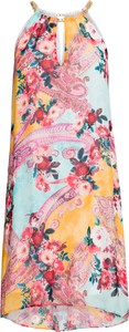 Sukienka bonprix BODYFLIRT boutique z okrągłym dekoltem trapezowa