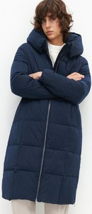 Granatowy płaszcz Reserved w stylu casual