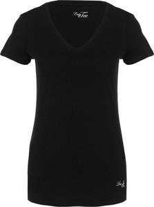 Czarny t-shirt Liu-Jo z krótkim rękawem
