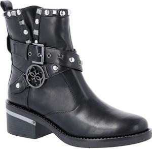 Czarne botki Guess w stylu casual