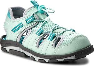 Miętowe buty dziecięce letnie New Balance na rzepy