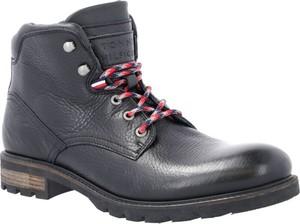 Granatowe buty zimowe Tommy Hilfiger sznurowane