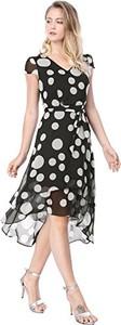 Sukienka Allegra K w stylu casual z szyfonu