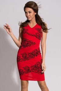 Sukienka Emamoda mini z dekoltem w kształcie litery v