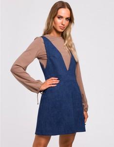 Niebieska sukienka MOE mini