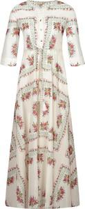 Sukienka Tory Burch maxi z długim rękawem