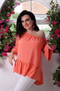 Pomarańczowa bluzka Oscar Fashion hiszpanka