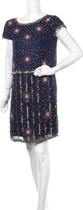 Niebieska sukienka Frock And Frill z krótkim rękawem mini