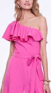 Różowy kombinezon L'AF z długimi nogawkami w młodzieżowym stylu