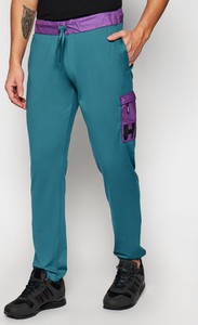 Niebieskie spodnie sportowe Helly Hansen z dresówki