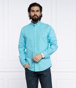 Niebieska koszula POLO RALPH LAUREN z długim rękawem