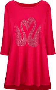 Czerwona bluzka kafrim.pl z okrągłym dekoltem