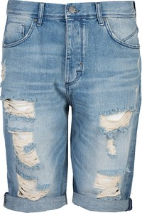 Niebieskie spodenki ubierzsie.com z jeansu