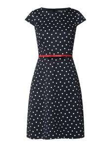 Granatowa sukienka Montego z bawełny
