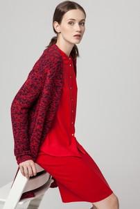 Czerwony sweter Solar z dzianiny w stylu casual