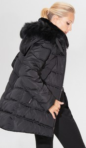 Czarna kurtka Mohito długa w stylu casual