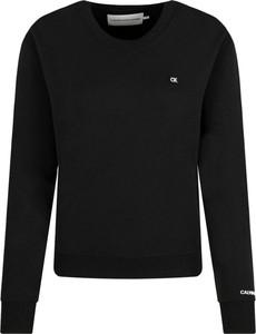 Czarna bluza Calvin Klein w stylu casual krótka