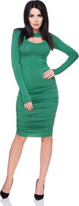 Sukienka Tessita dopasowana z długim rękawem midi