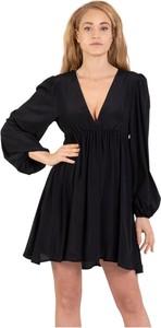 Sukienka Solotre z długim rękawem z dekoltem w kształcie litery v