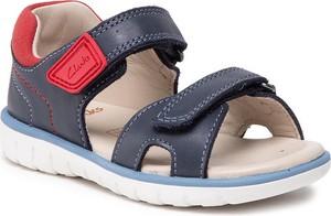 Buty dziecięce letnie Clarks dla chłopców na rzepy