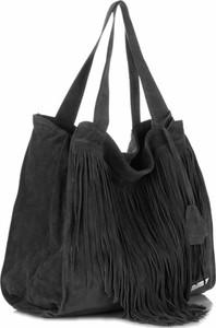 Uniwersalne torebki skórzane vittoria gotti czarne