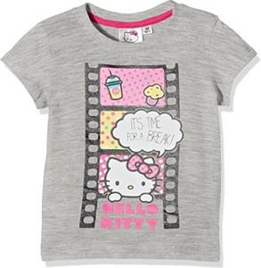 Koszulka dziecięca Hello Kitty z bawełny z krótkim rękawem dla dziewczynek