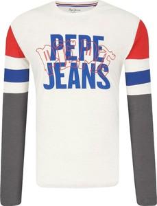 T-shirt Pepe Jeans z długim rękawem w młodzieżowym stylu