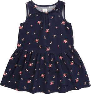Granatowa sukienka dziewczęca Gap ze sztruksu