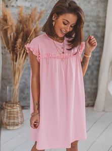 Sukienka SELFIEROOM mini z krótkim rękawem w stylu casual