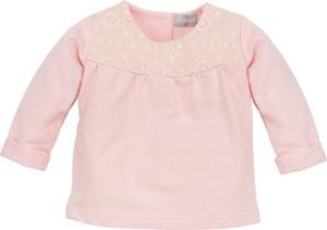 Różowa bluzka dziecięca malani z bawełny dla dziewczynek