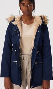 Niebieska kurtka Sinsay długa