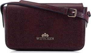 Czerwona torebka Wittchen średnia na ramię ze skóry