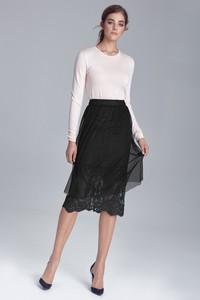 Czarna spódnica Nife midi z tiulu