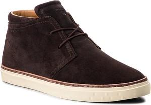 Brązowe buty zimowe Gant w stylu casual z zamszu
