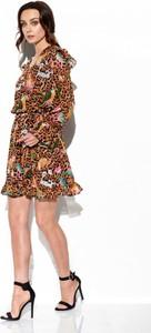 Sukienka Lemoniade mini z szyfonu kopertowa