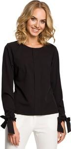 Czarna bluzka MOE z okrągłym dekoltem