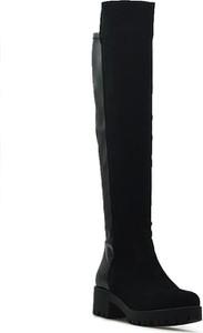 Czarne kozaki Tamaris ze skóry ekologicznej na zamek na obcasie