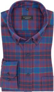 Koszula Eterna z kołnierzykiem button down z bawełny