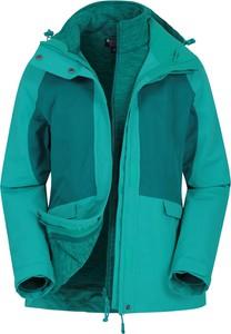Turkusowa kurtka Mountain Warehouse z tkaniny w stylu casual