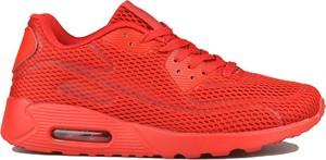 Czerwone buty sportowe Damle w sportowym stylu