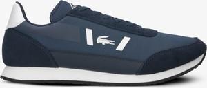 Niebieskie buty sportowe Lacoste sznurowane