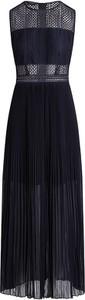 Granatowa sukienka Apart z okrągłym dekoltem maxi