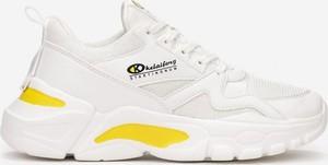 Buty sportowe born2be sznurowane ze skóry w sportowym stylu