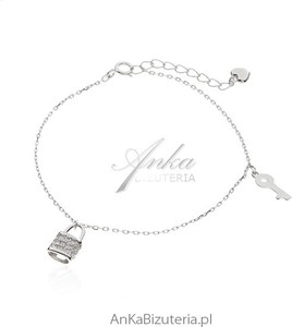 Ankabizuteria.pl bransoletka srebrna z przywieszkami - modna biżuteria srebrna