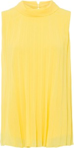 Żółta bluzka bonprix bez rękawów
